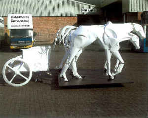 Paper Horses Lincoln Cathedral