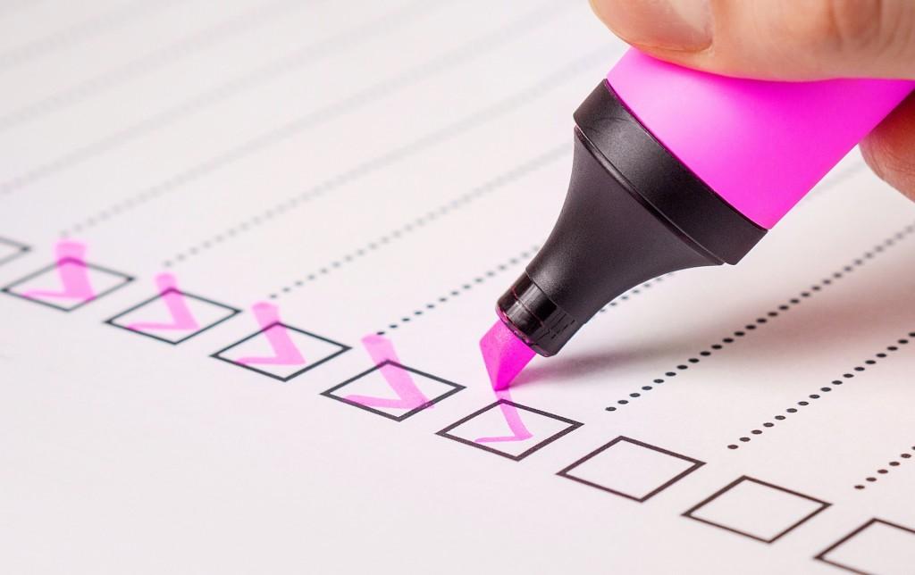 Preparing to rent checklist